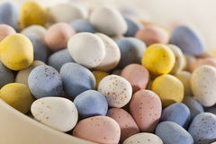 Festive Chocolate Easter Candy Eggs Stock Photography
