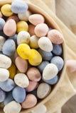 Festive Chocolate Easter Candy Eggs Stock Photos