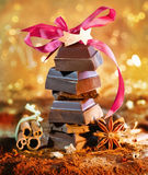 Festive Chocolate Tower Royalty Free Stock Photo
