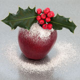 Festive Christmas Apple Stock Photography