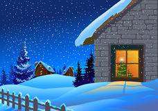 Festive Christmas background stock illustration