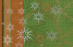 Festive Christmas background. Card with snowflakes on a dark Royalty Free Stock Photography