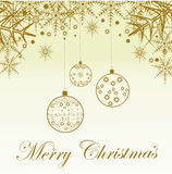 Festive Christmas background. Golden festive Christmas background.Editable and scalable Stock Image