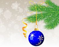 Festive christmas background with ball Royalty Free Stock Images