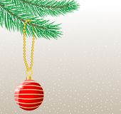 Festive christmas background with ball. Vector  illustration Royalty Free Stock Images