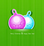 Festive Christmas background with balls. The Festive Christmas background with balls Royalty Free Stock Image