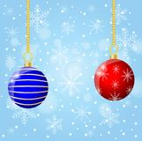 Festive christmas background with balls. Vector  illustration Stock Photos