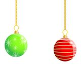 Festive christmas background with balls Stock Image