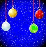 Festive christmas background with balls. Vector  illustration Stock Image