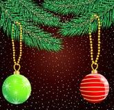 Festive christmas background with balls Stock Image