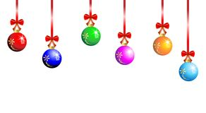 Festive christmas background with balls. Vector  illustration Royalty Free Stock Photos