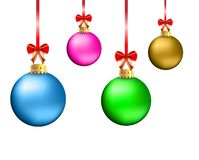 Festive christmas background with balls. Vector  illustration Royalty Free Stock Image