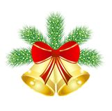 Festive christmas background with the branches of  Royalty Free Stock Image