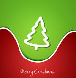 Festive Christmas background with Christmas tree Stock Photos