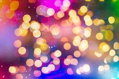 Festive Christmas background. Elegant abstract background with bokeh defocused lights and stars. Christmas Background.Holiday Abstract Glitter Stock Image