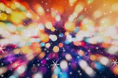 Festive Christmas background. Elegant abstract background with lights and stars. Christmas Background.Holiday Abstract Glitter .Magic Background Royalty Free Stock Photography