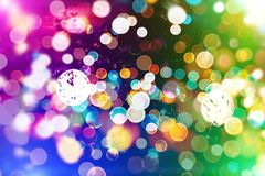 Festive Christmas background. Elegant abstract background with bokeh defocused lights and stars. Christmas Background.Holiday Abstract Glitter Stock Photo