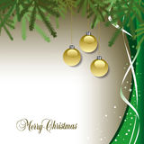Festive Christmas background. In green Royalty Free Stock Photography