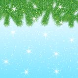 Festive christmas background with green branches. Vector  illustration Stock Photography