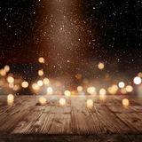 Festive christmas background with light effects Stock Images