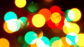 Festive Christmas background with lights. stock footage
