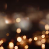 Festive christmas background with many lights. And bokeh Royalty Free Stock Images