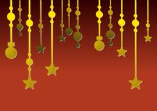 Festive christmas background (red) Royalty Free Stock Images
