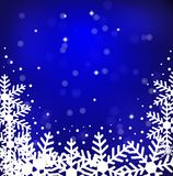 Festive christmas background with snowflakes. Illustration Stock Image