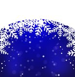 Festive christmas background with snowflakes Royalty Free Stock Photography