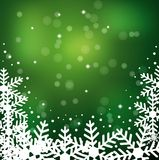 Festive christmas background with snowflakes. Illustration Royalty Free Stock Photography