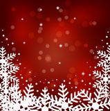 Festive christmas background with snowflakes. Illustration Royalty Free Stock Photo