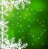 Festive christmas background with snowflakes Royalty Free Stock Photos