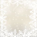Festive christmas background with snowflakes. Illustration Stock Images