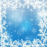 Festive christmas background with snowflakes. Illustration Royalty Free Stock Images
