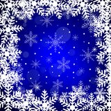 Festive christmas background with snowflakes Stock Photos