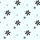 Festive Christmas background of snowflakes. For postcards, poster, invitation design for new year. Seamless pattern. Vector illust. Ration. eps 10 Royalty Free Stock Photos