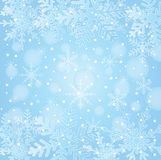 Festive christmas background with snowflakes Stock Photo