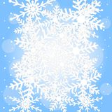 Festive christmas background with snowflakes Stock Image
