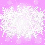 Festive christmas background with snowflakes Stock Photography