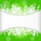 Festive christmas background with snowflakes Stock Images