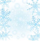 Festive christmas background with snowflakes Royalty Free Stock Photo