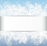 Festive christmas background with snowflakes Royalty Free Stock Images