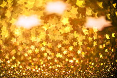 Festive Christmas background with stars. Abstract twinkled brigh. Festive Christmas background with stars - Abstract twinkled bright background with bokeh Royalty Free Stock Photos