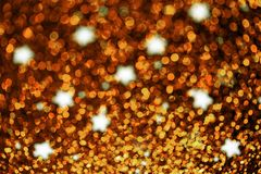 Festive Christmas background with stars - Abstract twinkled brigh. Festive Christmas background with stars. Abstract twinkled bright background with bokeh Royalty Free Stock Photography