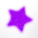 Festive Christmas background with stars. Abstract twinkled bright background with bokeh defocused lights Royalty Free Stock Photos