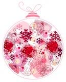 Festive Christmas ball. Royalty Free Stock Image