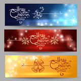 Festive Christmas Banner Set Stock Photos