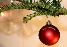 Festive Christmas bauble Stock Photo