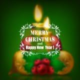 Festive Christmas blurred background Stock Image