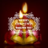 Festive Christmas blurred background Stock Photo